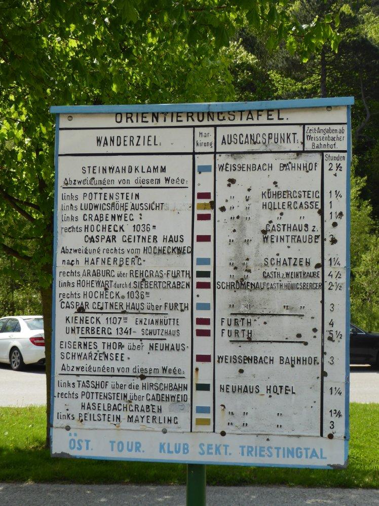 01 Orientierungstafel Weissenbach Bahnhof