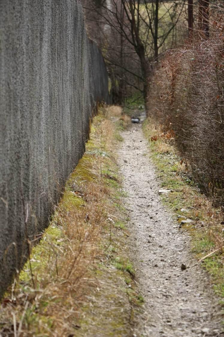29 an der Mauer entlang