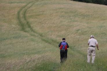 77 die Wanderer auf dem Weg zur Linde 3