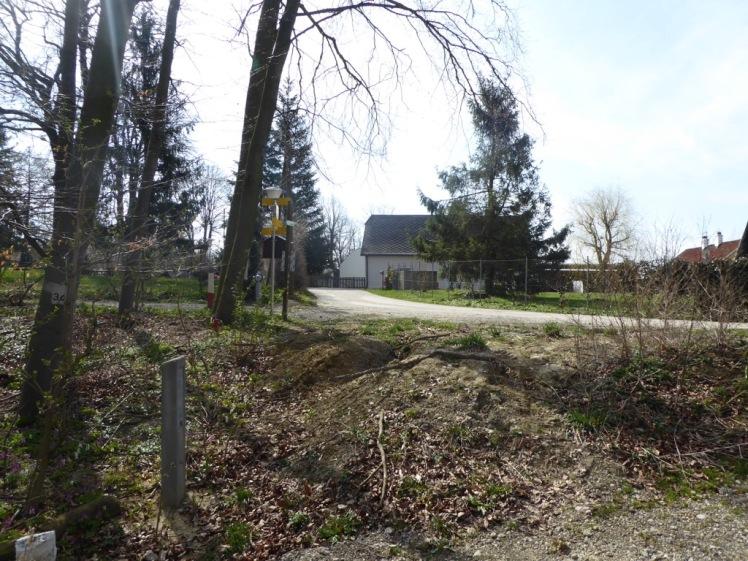 21 alter Einstieg nach Hadersfeld - zerstört