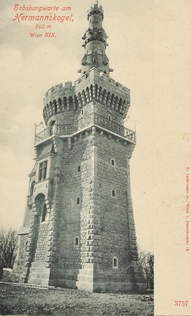 HE006 Hermannskogel Habsburgerwarte, um 1900