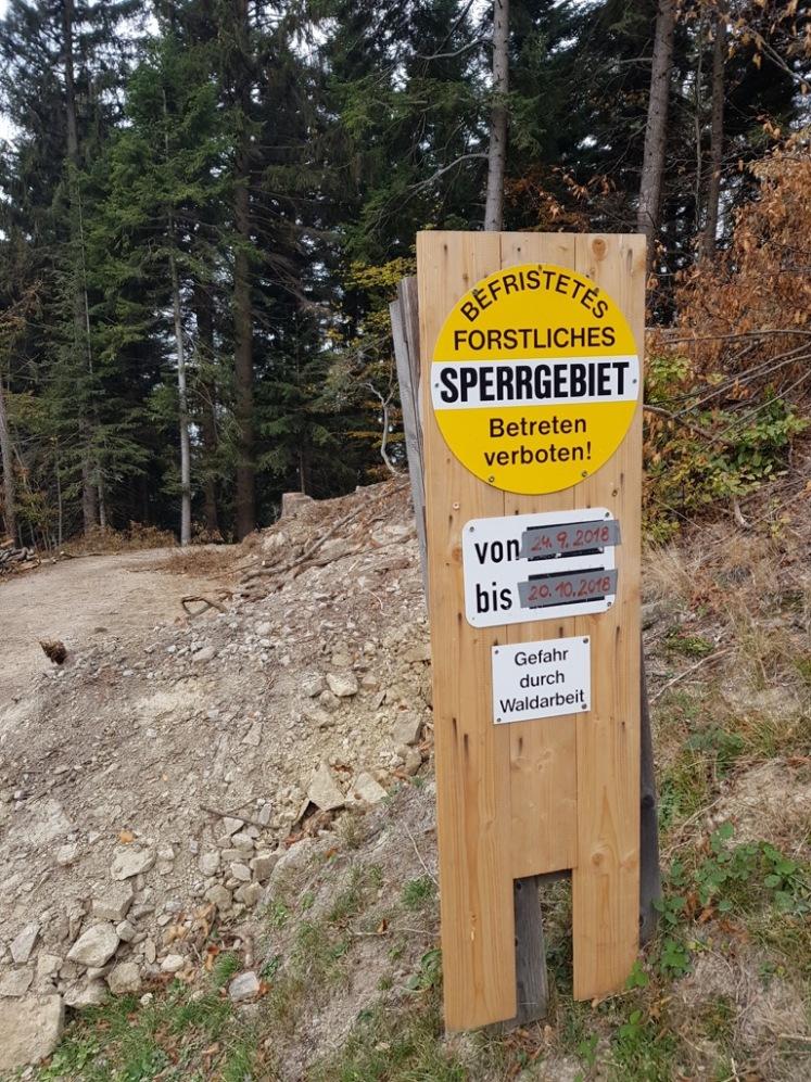 36 Waldbehinderungen nach Stockerhütte