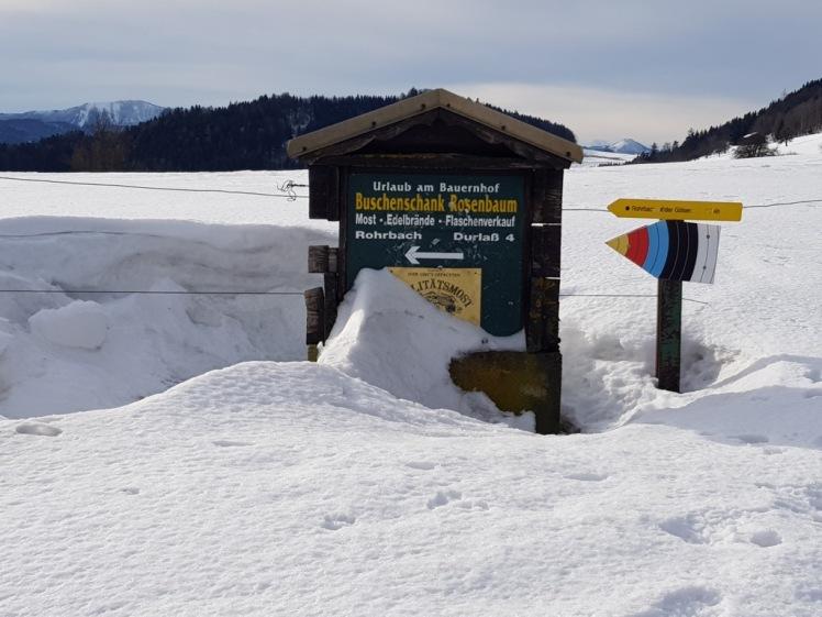 10 wegweiser im schnee
