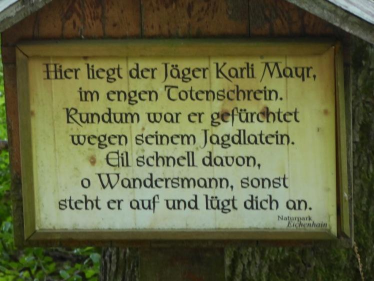 14 Jägerlatein-Schild