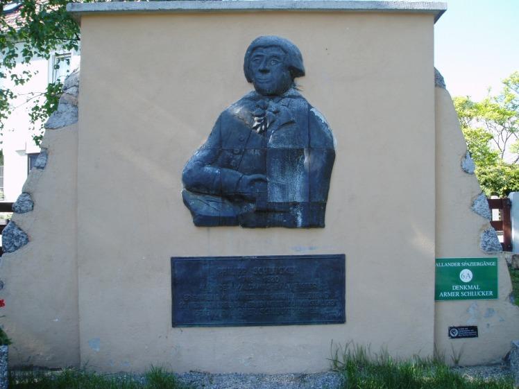 "Denkmal vom ""Armen Schlucker"""